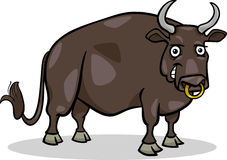 Bull farm animal cartoon illustration Royalty Free Stock Photography