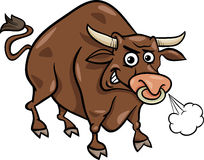Bull farm animal cartoon illustration Royalty Free Stock Photo