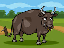 Bull farm animal cartoon illustration Stock Photos