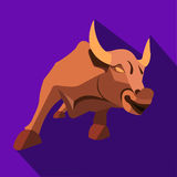 Bull in a flat style Stock Photography