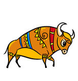 Bull folklore ornament Royalty Free Stock Images