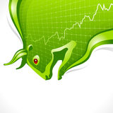 Bull frame. Business and finance symbol Stock Photography