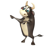 Bull funny cartoon character. 3d rendered illustration of Bull funny cartoon character Stock Images