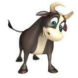 Bull funny cartoon character. 3d rendered illustration of Bull funny cartoon character Stock Photos