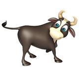 Bull funny cartoon character. 3d rendered illustration of Bull funny cartoon character Royalty Free Stock Image
