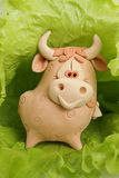 A bull is in greenery. On an east calendar 2009 year - year of bull Royalty Free Stock Image
