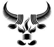 Bull head. Pattern design.created by Adove Illustrator cs Stock Photos