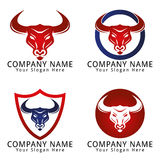 Bull Head Concept Logo Stock Images