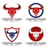 Bull Head Concept Logo Stock Images