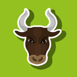 bull head design Royalty Free Stock Images