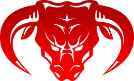 Bull Head Front Stock Images