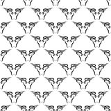 Bull Head Icon Seamless Pattern Royalty Free Stock Image