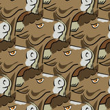 Bull Head Icon Seamless Pattern Royalty Free Stock Photography