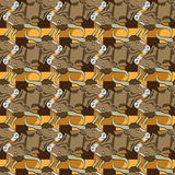 Bull Head Icon Seamless Pattern Stock Images