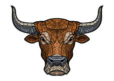 Bull head isolated illustration Royalty Free Stock Photos