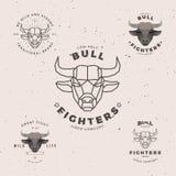 Bull head logo set Stock Images