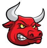 Bull Head Mascot Stock Image