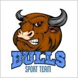 Bull Head Mascot - vector illustration for sport Stock Photo