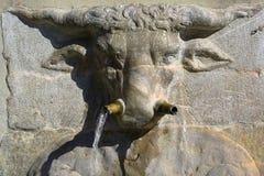 Bull head in a spanish fountain, Granada Royalty Free Stock Photography