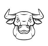 Bull Head Tattoo Vector Illustration Stock Photo
