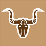Bull head tribal Stock Images