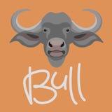 Bull head vector illustration style flat Royalty Free Stock Image