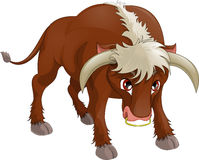 Bull. Hung the head on a white background stock illustration