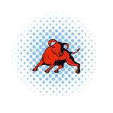 Bull icon in comics style Stock Images