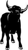 Bull Illustration. Line Art Illustration of a Bull royalty free illustration