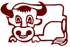 Bull illustration Stock Photo