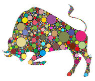 Bull illustration Stock Image
