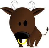 nice Bull cartoon isolated Royalty Free Stock Photography