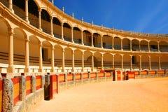 Bull-kämpfende Arena Ronda stockbilder