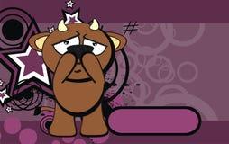 Bull kid emotion cartoon background Stock Images