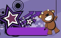 Bull kid happy emotion cartoon background Stock Photo