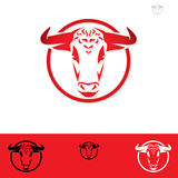 Bull label Stock Photography