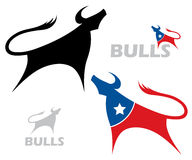 Bull labels Royalty Free Stock Images