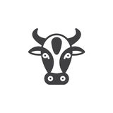 Bull line icon, outline vector sign. Linear pictogram  on white. Symbol, logo illustration Royalty Free Stock Images