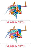 Bull logo. Abstract isolated bull logo design set stock illustration