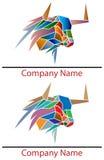 Bull logo. Abstract isolated bull logo design set Royalty Free Stock Image