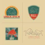 Bull logo and badges templates Stock Photos