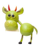 Bull made of green fruits Royalty Free Stock Photos