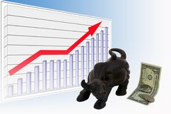 Bull Market. Growth arrow chart business Stock Images
