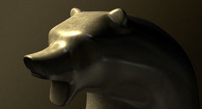 Bull Market Bronze Casting Contrast Stock Image