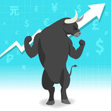 Bull market presents uptrend stock market concept Royalty Free Stock Image