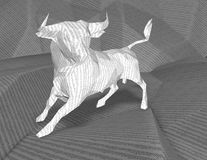 Bull market and stock exchange abstract idea. Royalty Free Stock Images