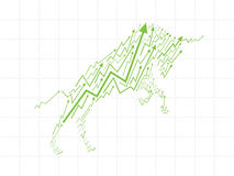 Bull Market in Stock exchange. Royalty Free Stock Images