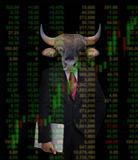 Bull market, stock investment concept Royalty Free Stock Photo