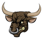 Bull mascot character Stock Photo