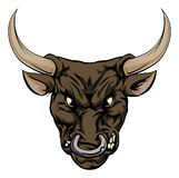 Bull mascot character Royalty Free Stock Photos